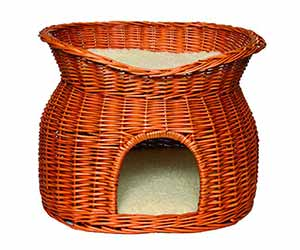 Mueble de mimbre para gatos con cueva y cama superior - Trixie