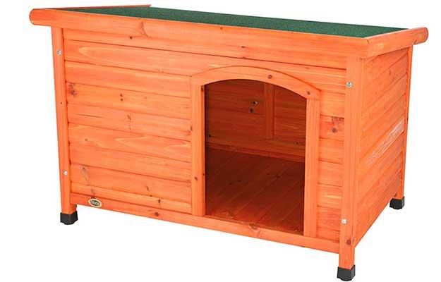 Caseta de madera para perros alargada y con techo plano - Trixie Natura