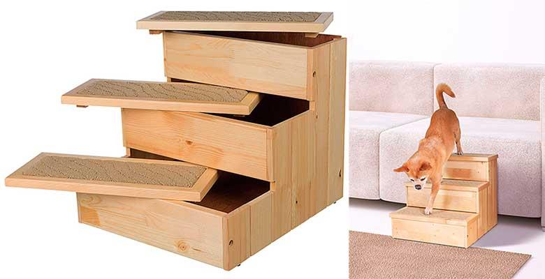 Escalera de madera para perros - Trixie Petstair