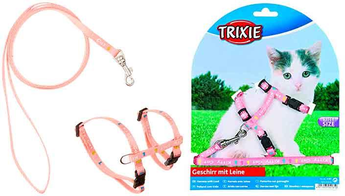 Correa y arnés especial para gatitos pequeños - Trixie