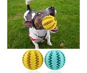 Pelota de goma y con dientes para perros - UEETEK