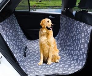 Funda tipo cubreasientos con diseño de huellas para llevar al perro en el coche - VanGeeStar