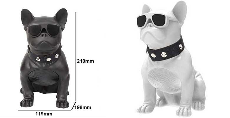 Altavoz portátil con forma de Bulldog