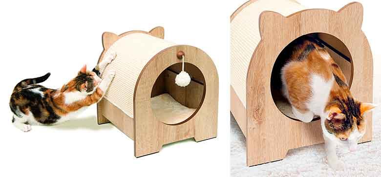 Rascador y casa para gatos - Catit Vesper Minou