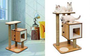 Mueble rascador de madera para gatos - Catit Vesper Base