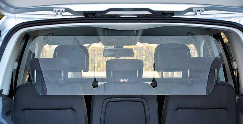Separador transparente de metacrilato para llevar perros en el maletero del coche - Camon WalkyAir