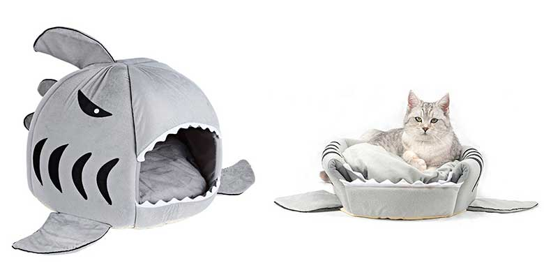 Cama original con forma de tiburón para gatos - WYSBAOSHU