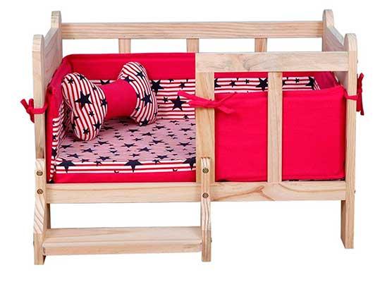 Cama original para perros fabricada en madera - Yxiny