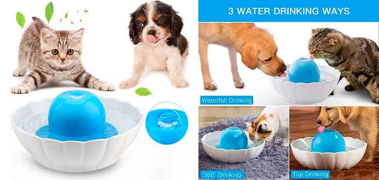 Bebedero automático con base de cerámica para gatos y perros - YOUTHINK