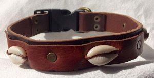 Collar artesanal de cuero para perros - ArteAgar
