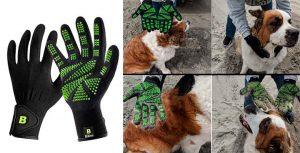 Guantes masajeadores para perros y gatos - Bikien