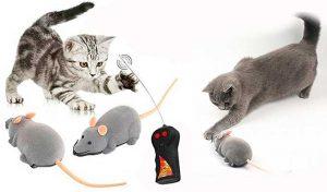 Ratón de juguete para gatos, con control remoto - Cisixin