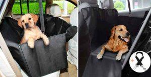 Híbrido entre funda tipo hamaca y asiento para llevar perros en el coche - GHB