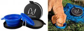 Comedero y bebedero portátil y plegable para perros y gatos - Happilax