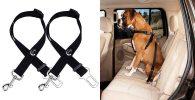 Pack de 2 cinturones de seguridad para perros - JINCHAO