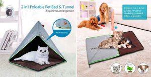 Cama alfombra plegable para gatos - K.1