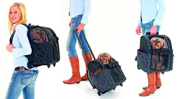 Carrito para perros y gatos tipo mochila con ruedas - Karlie Smart Trolley