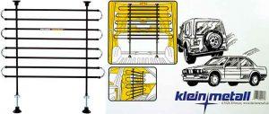 Barra separadora premium para llevar al perro en el maletero del coche - Kleinmetall Highway