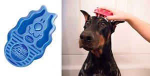 Cepillo masajeador y de baño para perros y gatos - Kong ZoomGroom