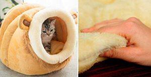 Cama tipo iglú para gatos - Leegoal