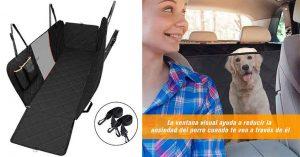 Funda con rejilla para llevar al perro en el asiento trasero del coche - OMORC