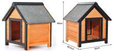 Caseta de madera para perros pequeños - PawHut