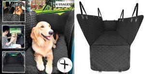 Cubreasientos tipo hamaca para llevar al perro en el asiento trasero del coche - Pecute