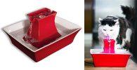 Fuente de cerámica para gatos y perros - PetSafe Drinkwell