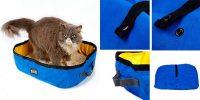 Arenero plegable de viaje para gatos - Petneces