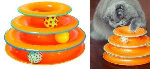 Juguete interactivo para gatos, tipo torre con pelotas - Petstages