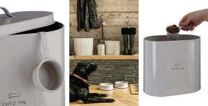 Contenedor de pienso para gatos y perros pequeño y decorativo - Premier Housewares