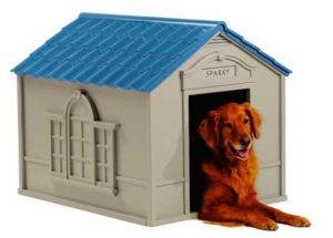 Caseta de resina para perros con diseño original - Suncast
