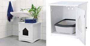 Mueble con arenero oculto para gatos - Trixie