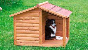 Caseta de madera con porche para perros medianos - Trixie Natura