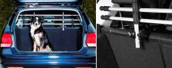 Barra separadora para llevar al perro en el maletero del coche con instalación en el reposacabezas - Trixie